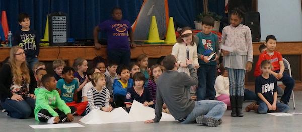 SWS 4th graders lead community meeting